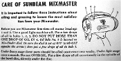 Mixmaster Model 7 Maintenance Manual (Download)