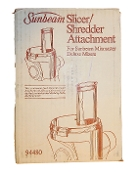 94480 Sunbeam slicer shredder