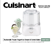 Cuisinart ICE-20 Frozen Yogurt & Ice Crm Manual (Download)