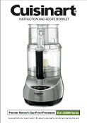 cuisinart food processor instruction manual