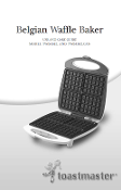Toastmaster Model TWB4BEL Waffle Maker Manual Download