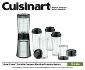Cuisinart CPB-300 Blender-Chopping System Manual Download