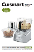 Cuisinart FP-12 Elite Food Processor Manual (Download)