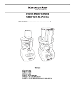 Kitchen Aid Food Processor Service Manual