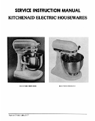 KitchenAid K5-A / K45 Service - Repair Manual