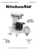 KitchenAid 6 Qt. Mixer Service - Repair Manual (Download)