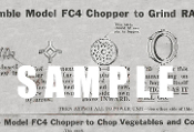 Mixmaster Food Chopper Model FC-4 User Manual Download