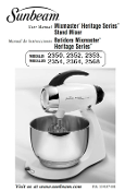 Mixmaster Heritage Models 2350 thru 2568 Manual (Download)
