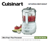Cuisinart DLC-2A Food Processor Manual Download