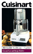 Cuisinart DLC-10S or 10C Food Processor Manual Download