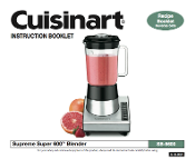 Cuisinart SB-5600 Blender Manual Download