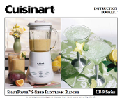 Cuisinart CB-9 Series Blender Manual Download