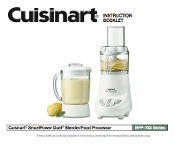 Cuisinart BFP-703 Ser. Blender/Food Processor Manual Download