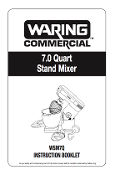 Waring Model WSM7Q Mixer Manual Download