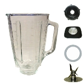 Oster 5 Cup Glass Square Top Complete Blender Jar Assembly