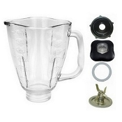 Oster 5 Cup Glass Clover Top Complete Blender Jar Assembly