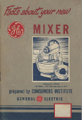 GE Mixer Model 133M9 Manual Download.