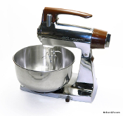 Sunbeam Mixmaster Model 1-7A Refurbished, Chrome and Brown