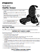 Presto Flipside Belgian Waffle Maker Manual (Download)
