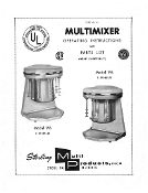 Sterling Multimixer 9-B Instruction Manual