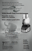 Black and Decker Model 2500 Food Processor Manual Download