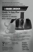 Black and Decker Model 1450 Food Processor Manual Download