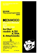 Kenwood Chef Model A701A Service/Repair Manual (Download)