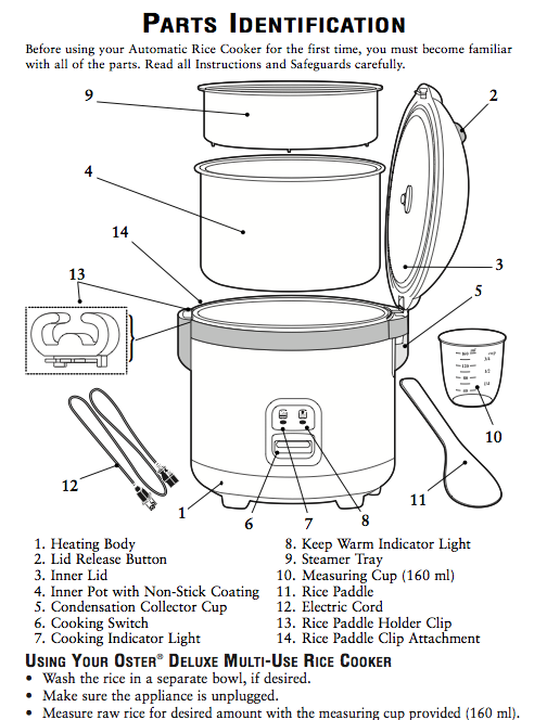 oster model 4715 4717 4721 rice cooker manual download rh nelsonezy com oster rice cooker instructions 4715 oster rice cooker model 4715 parts